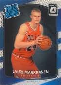 2017-18 Donruss Optic #159 Lauri Markkanen Chicago Bulls Rated Rookie Basketball Card