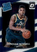 2017-18 Donruss Optic #188 Donovan Mitchell Utah Jazz Rated Rookie Basketball Card