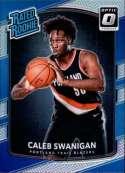 2017-18 Donruss Optic Holo Silver Prizm #175 Caleb Swanigan Portland Trail Blazers Rated Rookie RC Basketball Card