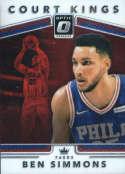 2017-18 Donruss Optic Court Kings #1 Ben Simmons Philadelphia 76ers