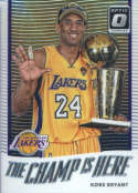 Basketball NBA 2017-18 Optic The Champ is Here #6 Kobe Bryant  Lakers