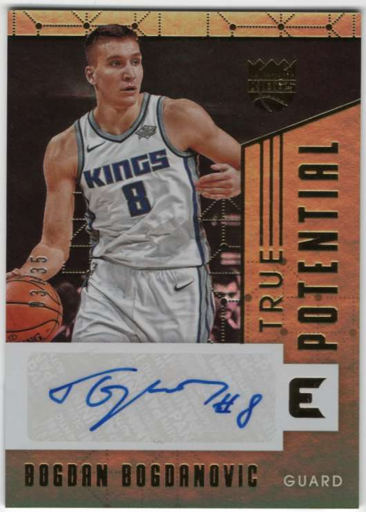 2017-18 Panini Essentials True Potential Signatures Gold