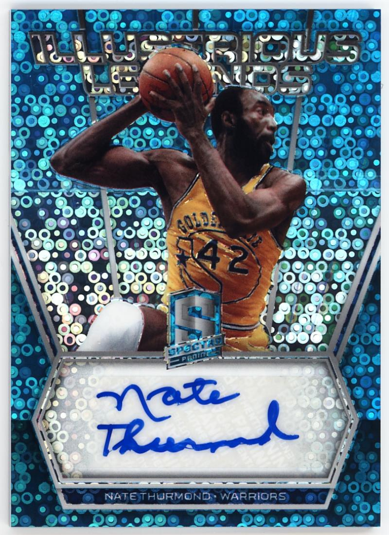 2017-18 Panini Spectra Illustrious Legends Signatures Neon Blue