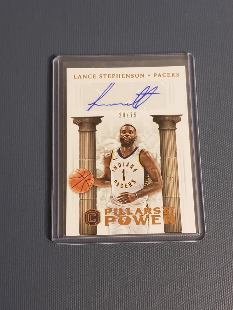 2017-18 Panini Cornerstones Pillars of Power Autographs Bronze