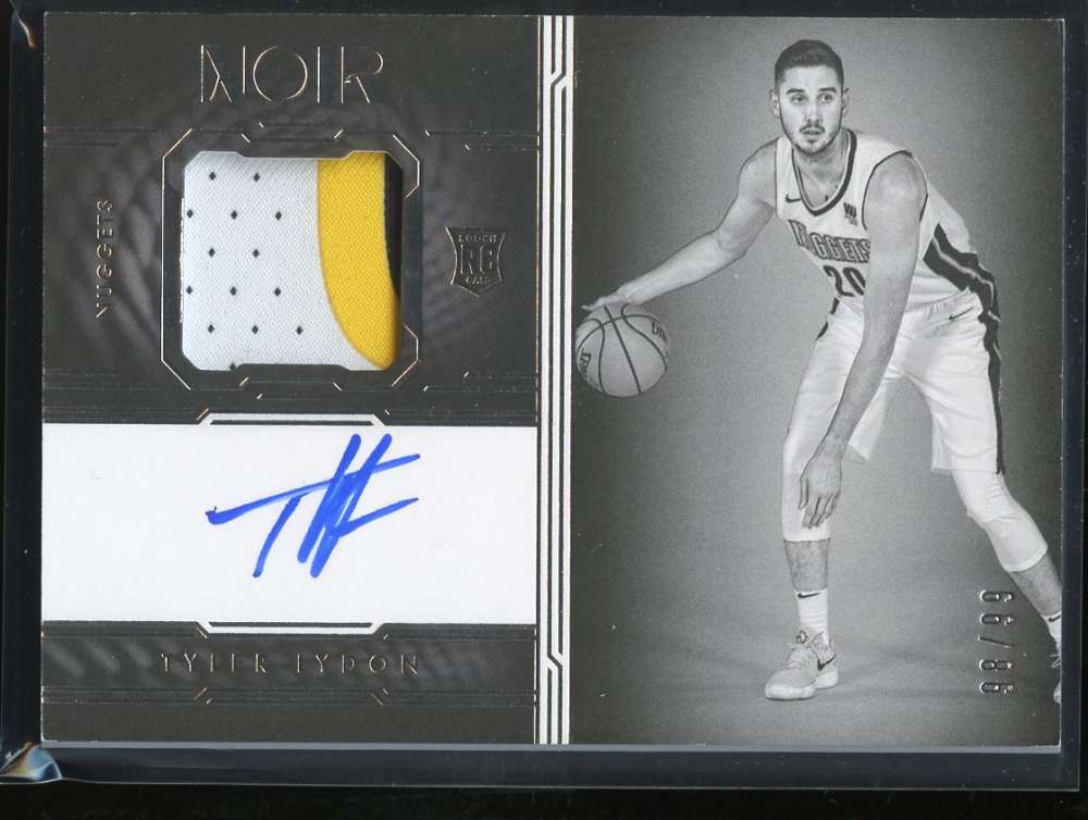 2017-18 Panini Noir Autographed Prime Rookies Black and White
