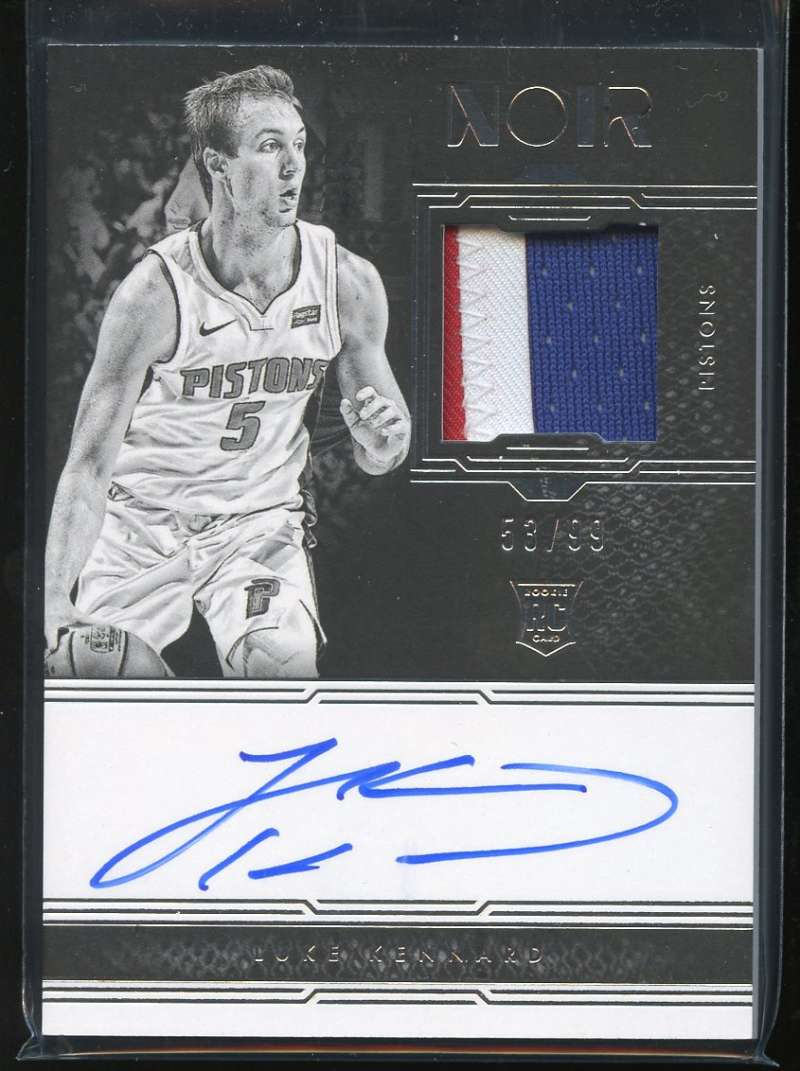 2017-18 Panini Noir Rookie Patch Autographs Black and White