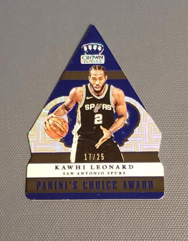 2017-18 Panini Crown Royale Panini's Choice Blue