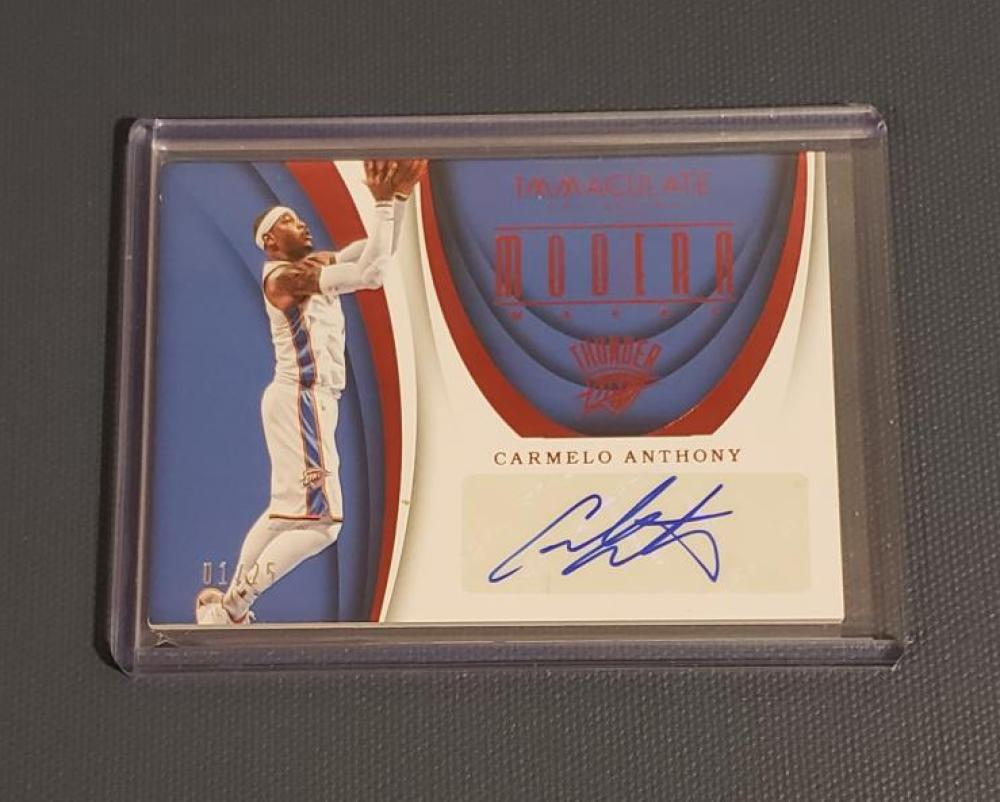 2017-18 Panini Immaculate Modern Marks Red