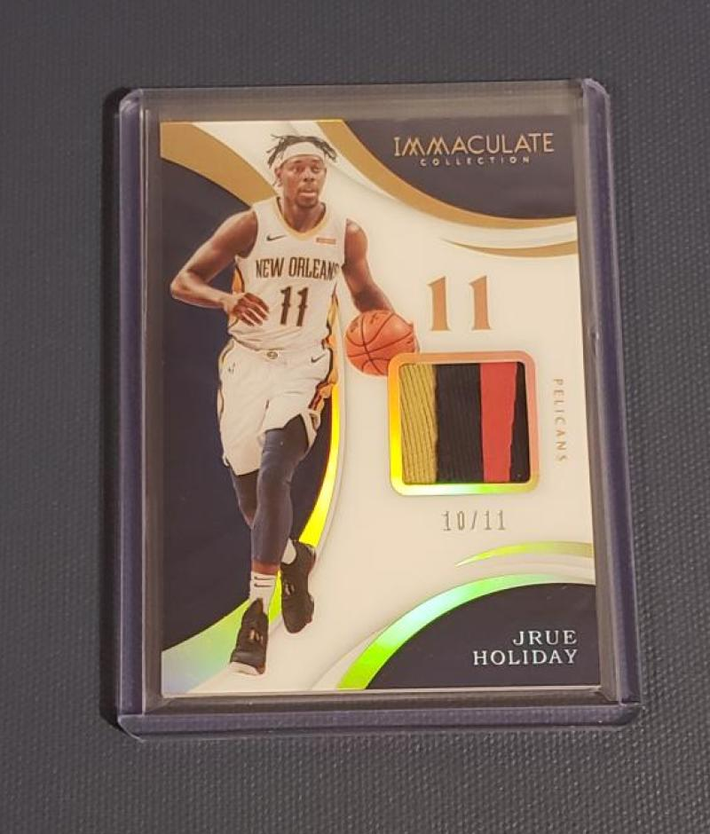2017-18 Panini Immaculate Patches Jersey Number