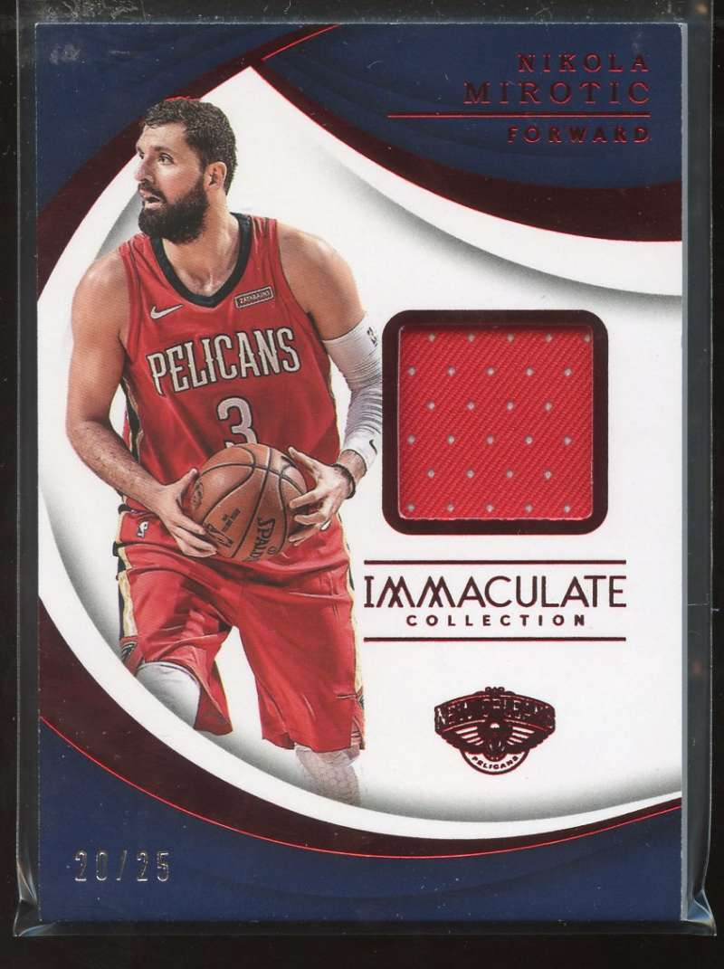2017-18 Panini Immaculate Swatches Red