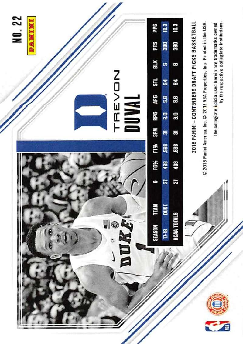 c44c90362622 2018-19 Panini Contenders Draft Picks Game Day Tickets  22 Trevon Duval NM+