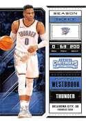 2018-19 Panini Contenders Draft Picks Basketball Season Ticket Variation #47 Russell Westbrook Oklahoma City Thunder Of