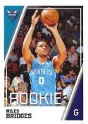 2018-19 Panini NBA Stickers Collection #56 Miles Bridges RC Rookie Card Charlotte Hornets Official Basketball Sticker (2 in x 2.75 in)