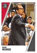 2018-19 Panini NBA Stickers Collection #183 Nick Nurse RC Rookie Toronto Raptors Official Basketball Sticker (2 in x 2.75 in)