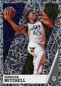 2018-19 Panini NBA Stickers Collection #388 Donovan Mitchell Foil Utah Jazz Official Basketball Sticker (2 in x 2.75 in)
