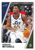 2018-19 Panini NBA Stickers Collection #392 Donovan Mitchell Utah Jazz Official Basketball Sticker (2 in x 2.75 in)