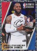 2018-19 Panini NBA Stickers Collection #408 LeBron James All Star Game MVP Foil Cleveland Cavaliers Official Basketball Sticker (2 in x 2.75 in)