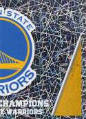 2018-19 Panini NBA Stickers Collection #455 Golden State Warriors NBA Champions Right Side Foil Golden State Warriors Official Basketball Sticker (2 i
