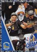 2018-19 Panini NBA Stickers Collection #457 Klay Thompson/Kevin Durant Team Photo Left Side Foil Golden State Warriors Official Basketball Sticker (2