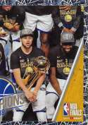 2018-19 Panini NBA Stickers Collection #458 Stephen Curry Team Photo Right Side Foil Golden State Warriors Official Basketball Sticker (2 in x 2.75 in