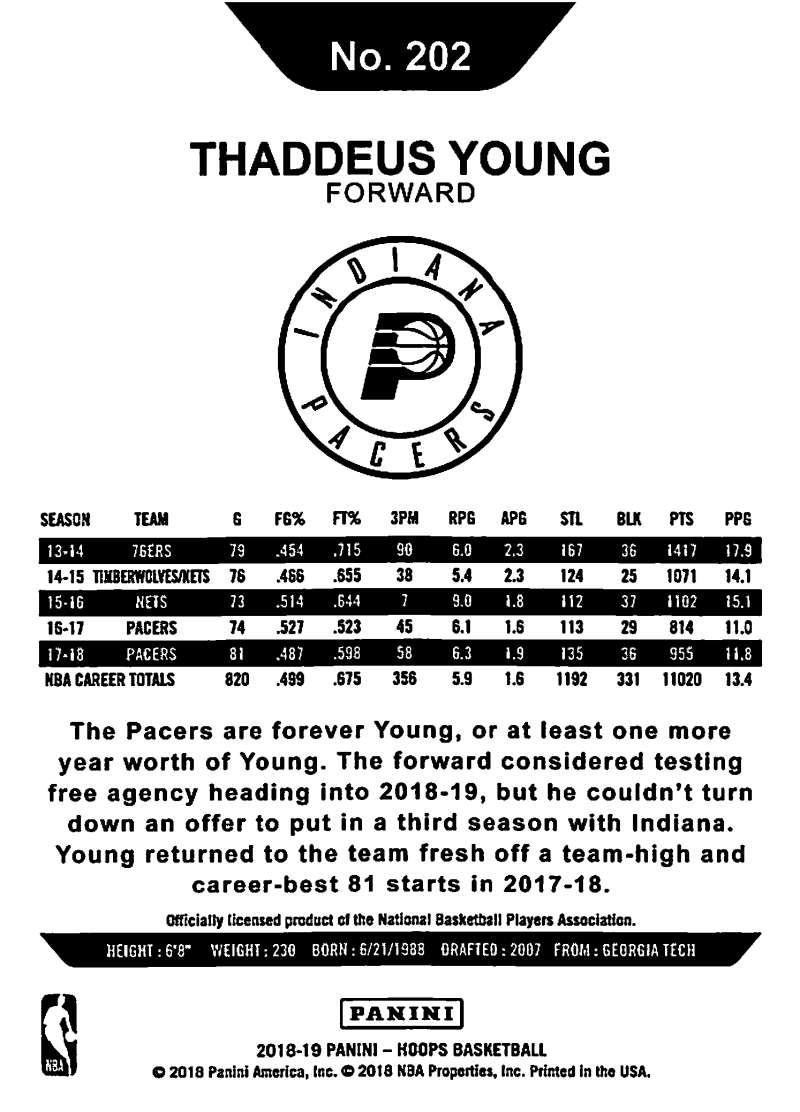 2018-19-Panini-Hoops-NBA-Basketball-Base-Singles-151-300-Pick-Your-Cards 縮圖 102