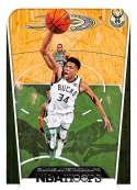 2018-19 Panini Hoops #299 Giannis Antetokounmpo Tribute NM-MT Milwaukee Bucks Tribute  Official NBA Basketball Card