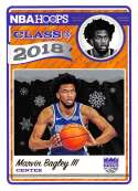 2018-19 NBA Hoops Holiday Class of 2018 #2 Marvin Bagley III Sacramento Kings  RC Rookie Basketball Card made by Panini