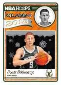 2018-19 NBA Hoops Winter Holiday Class of 2018 #15 Donte DiVincenzo Milwaukee Bucks  RC Rookie Basketball Card made by Panini