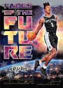 2018-19 NBA Hoops Winter Holiday Faces of the Future #18 Lonnie Walker IV San Antonio Spurs  RC Rookie Basketball Card made by Panini