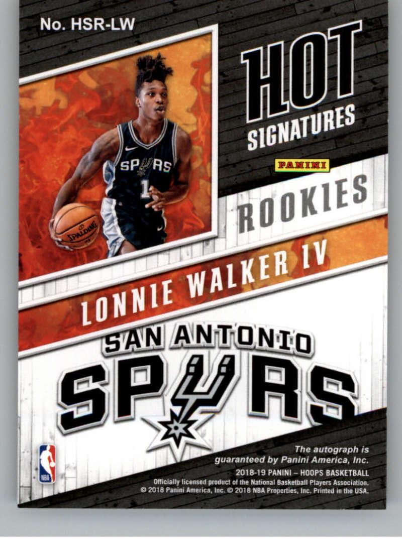 2018-19 Panini Hoops Hot Signatures Rookies Basketball Checklist ... 9fbd4c589