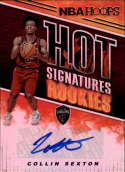 2018-19 Panini Hoops Hot Signatures Rookies #8 Collin Sexton NM-MT Cleveland Cavaliers Official NBA Basketball Card