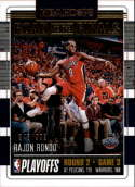 2018-19 NBA Hoops Road to the Finals Second Round #54 Rajon Rondo /999 New Orleans Pelicans  Panini Basketball Trading Card