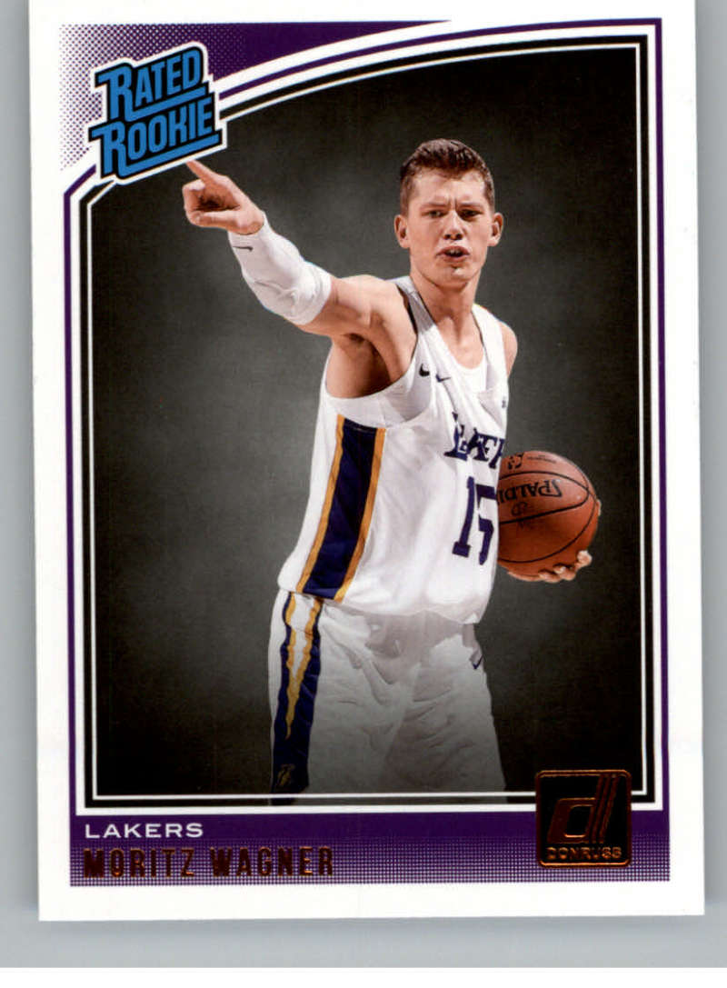 3c0e2b39d98 2018-19 Donruss #197 Moritz Wagner Rated Rookie NM-MT RC Rookie Los Angeles  Lakers