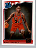 2018-19 Donruss #170 Wendell Carter Jr. Rated Rookie NM-MT RC Rookie Chicago Bulls