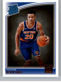 2018-19 Donruss #190 Kevin Knox Rated Rookie NM+ RC Rookie