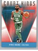 2018-19 Donruss Court Kings Basketball Insert #7 Kyrie Irving Boston Celtics Official NBA Trading Card Produced By Panini