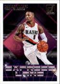 2018-19 Donruss Express Lane Basketball Insert #19 Damian Lillard Portland Trail Blazers  Official NBA Trading Card Produced By Panini Retail Only