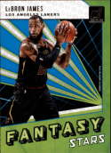 2018-19 Donruss Fantasy Stars Basketball Card #2 LeBron James Los Angeles Lakers  Official NBA Trading Card Produced By Panini Retail Only Insert