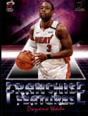 2018-19 Donruss Franchise Features Basketball Card #16 Dwyane Wade Miami Heat  Official NBA Trading Card Produced By Panini Retail Only Insert