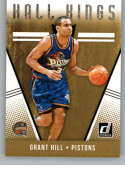 2018-19 Donruss Hall Kings Basketball Insert #25 Grant Hill Detroit Pistons Official NBA Trading Card Produced By Panini