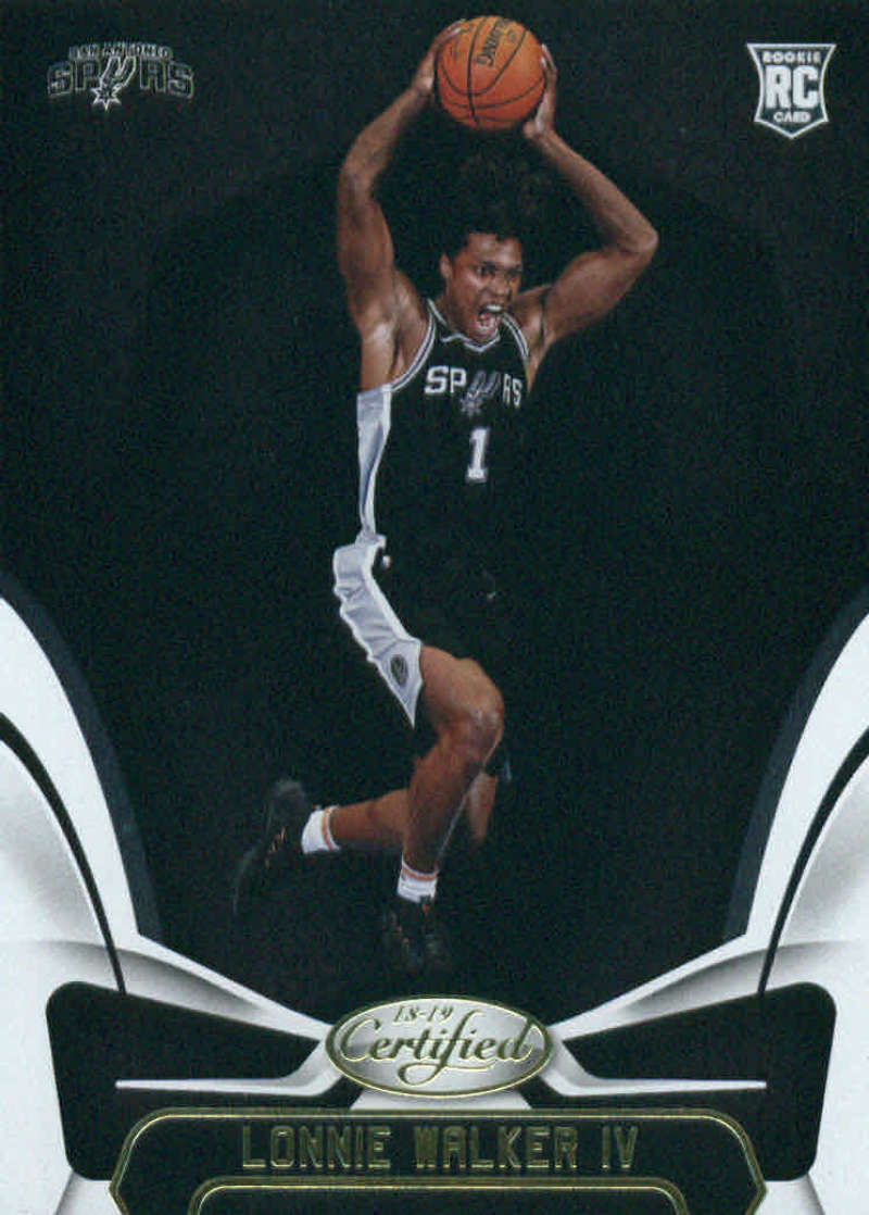 2018-19 Certified Basketball #168 Lonnie Walker IV San Antonio Spurs  RC Rookie Official NBA Trading Card (made by Panini)