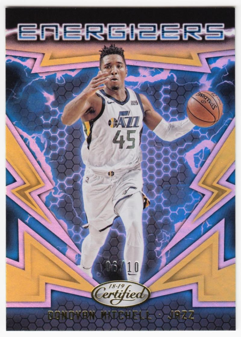 2018-19 Panini Certified Energizers Mirror Gold