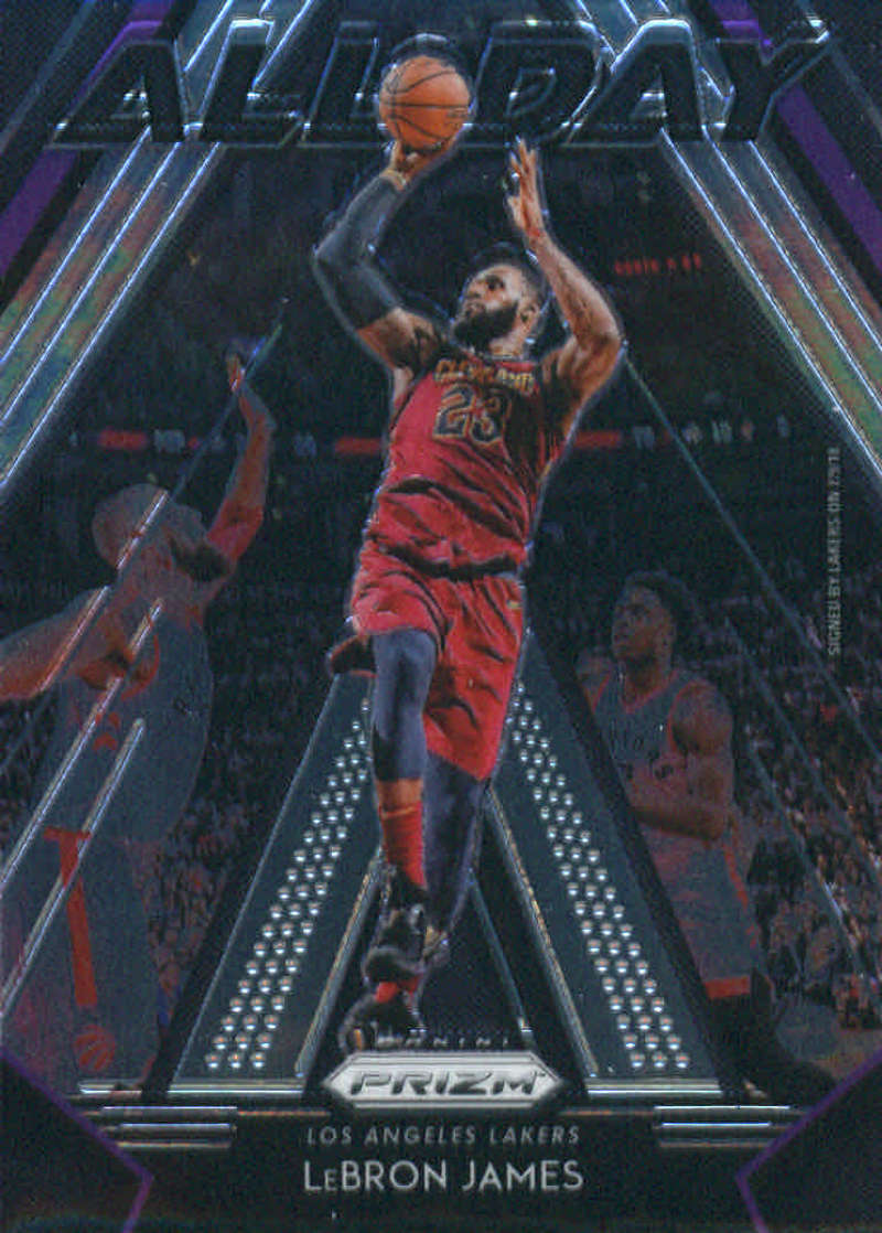 2018-19 Prizm All Day Basketball #10 LeBron James Los Angeles Lakers Official NBA Trading Card From Panini
