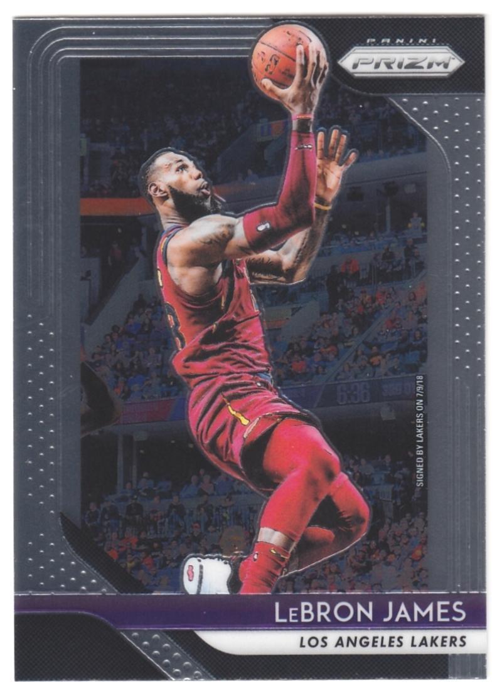 2018-19 Panini Prizm #6 LeBron James NM-MT Los Angeles Lakers Official NBA Basketball Card