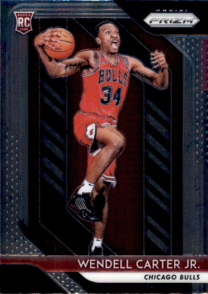 2018-19 Panini Prizm #80 Wendell Carter Jr. RC NM-MT Chicago Bulls Official NBA Basketball Card