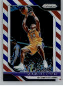 2018-19 Panini Prizm Red White Blue Starburst Refractor #35 Shaquille O'Neal Los Angeles Lakers Official NBA Basketball
