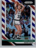 2018-19 Panini Prizm Red White Blue Starburst Refractor #85 Larry Bird Boston Celtics Official NBA Basketball Trading Ca