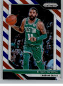 2018-19 Panini Prizm Red White Blue Starburst Refractor #98 Kyrie Irving Boston Celtics Official NBA Basketball Trading