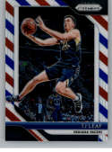 2018-19 Panini Prizm Red White Blue Starburst Refractor #124 TJ Leaf Indiana Pacers Official NBA Basketball Trading Card