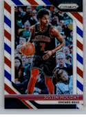 2018-19 Panini Prizm Red White Blue Starburst Refractor #150 Justin Holiday Chicago Bulls Official NBA Basketball Tradin